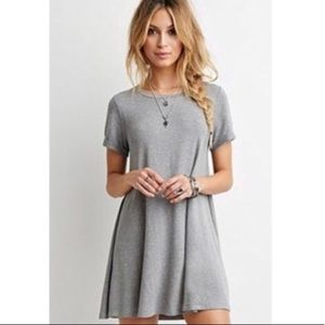 olive+oak French Terry Short Sleeve Swing Dress